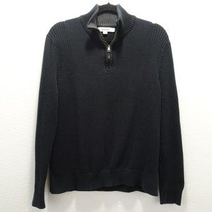 Men's Calvin Klien Knit & Ribbed Sweater Black M